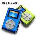 Esporte MP3 Player com Tela de LCD/Multicolor de Metal Mini Clipe de Metal MP3 Player de Música Portátil com Micro TF/Slot Para Cartão SD