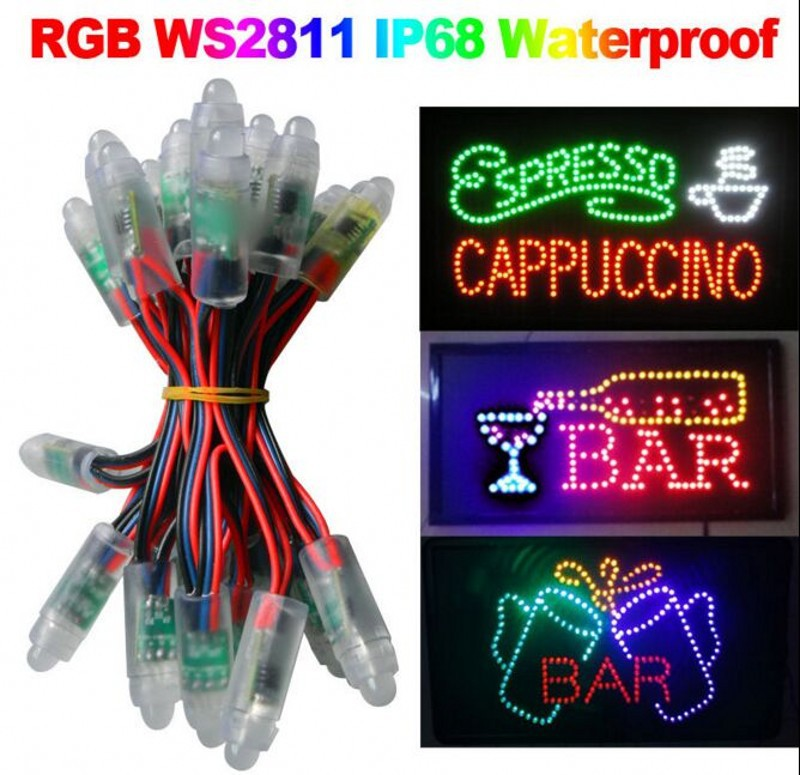 Entire String Christmas Lights Not Working : New WS2811 led pixel module 12mm IP68 waterproof DC5V full color RGB string christmas LED light ...