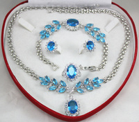 shipping set 0034 zircon necklace, earing, bracelet , ring set 5.31