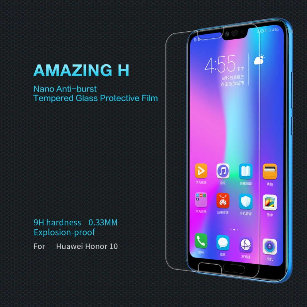Huawei Honor 10 safety glass protective film NILLKIN Amazing H Anti-Explosion transparent clear Tempered glass for Honor10 9 8