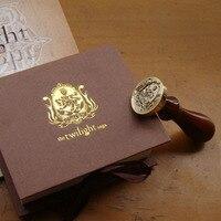 Free Shipping Unique Wampire Werewolf Wood Handle Wax Seal Stamp Wedding Custom Greetings Envelope Seal Scrapbooking