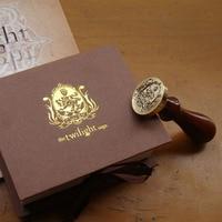 Free shipping!Unique Wampire&Werewolf Wood Handle Wax Seal Stamp Wedding Custom/Greetings Envelope Seal Scrapbooking Gift