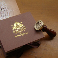 Free Shipping Unique Wampire Werewolf Wood Handle Wax Seal Stamp Wedding Custom Greetings Envelope Seal Scrapbooking