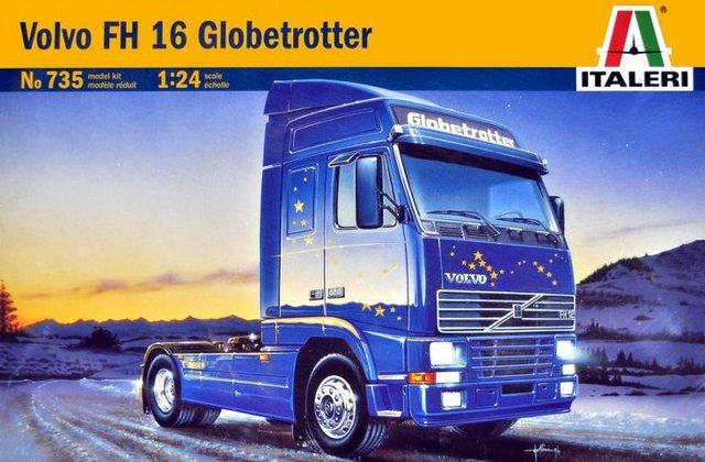 Globetrotter Italeri 1/24 Volvo FH16 Грузовик Пластиковая Модель Комплект 735