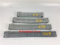 Metal Track for DIY Robot Tank Car Metal Chain Belt caterpillar Width 4.5cm