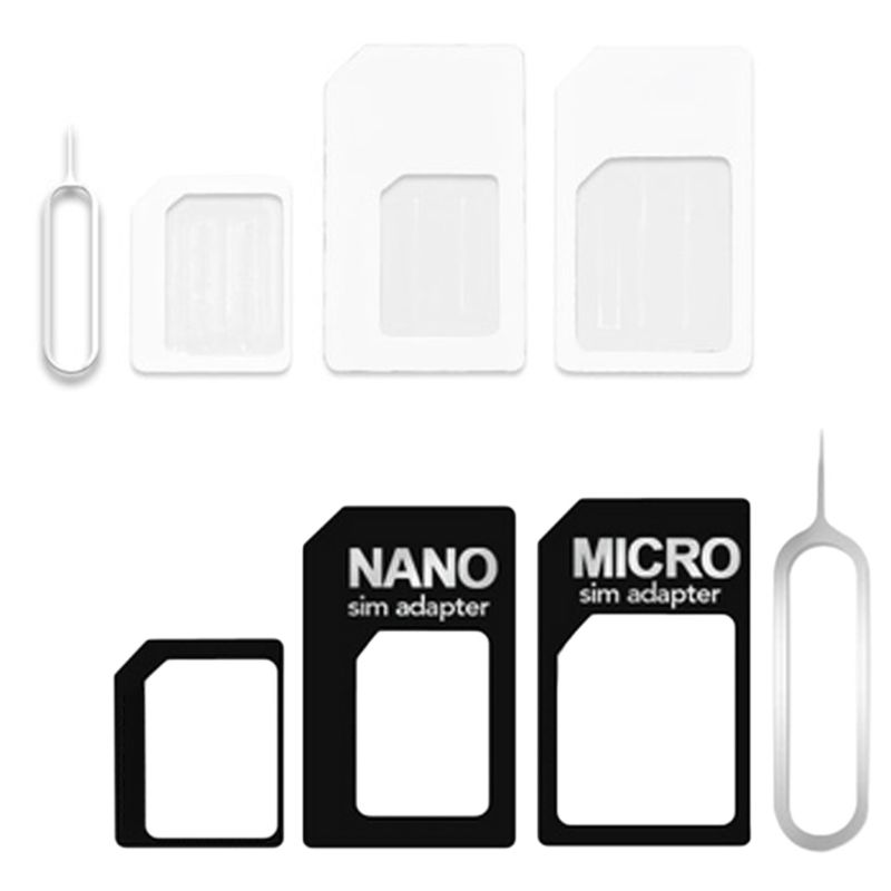 4 in 1 Convert Nano <font><b>SIM</b></font> <font><b>Card</b></font> to Micro Standard <font><b>Adapter</b></font> For iPhone for <font><b>Samsung</b></font> 4G LTE USB Wireless Router image