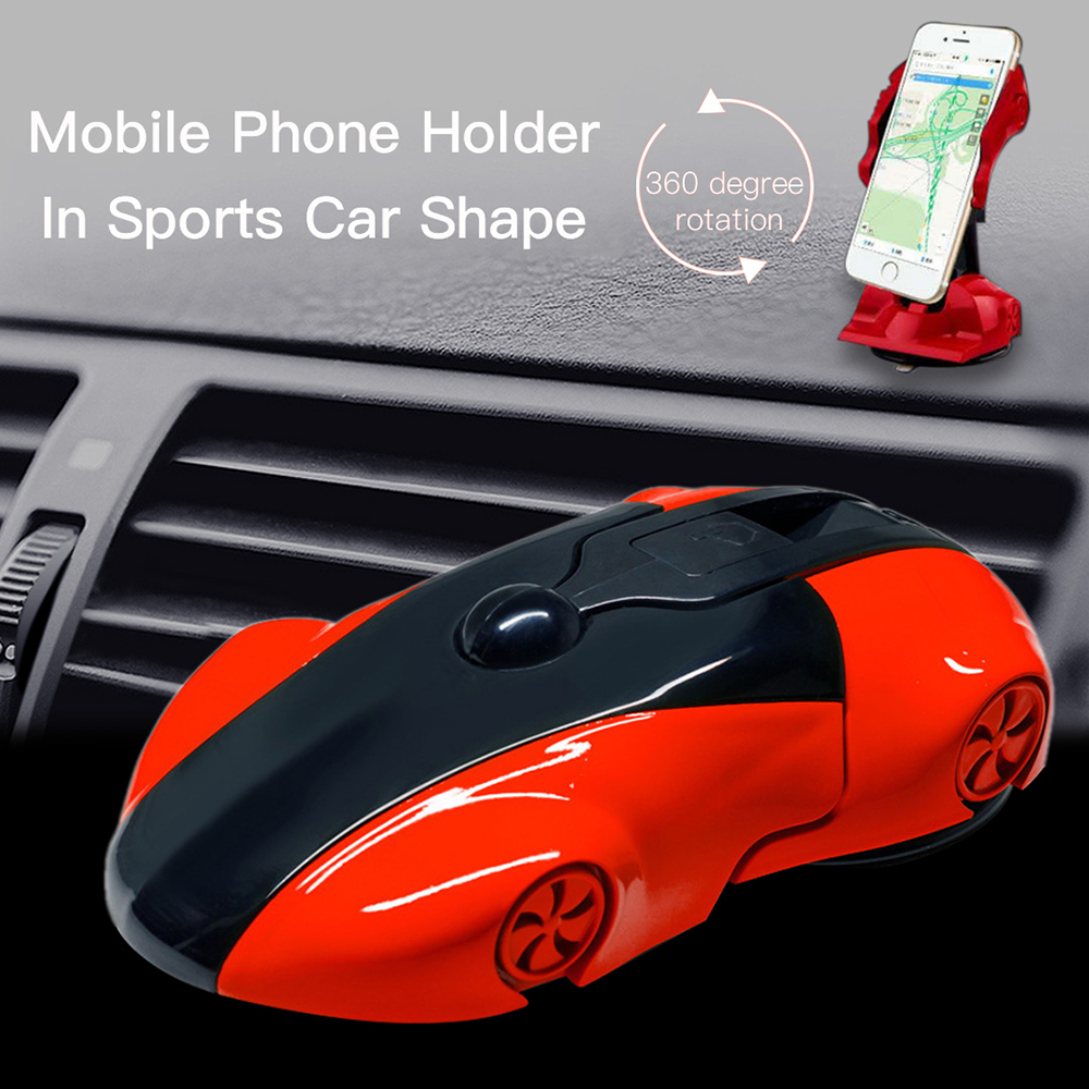 Universal Car Phone Holder 360 Degree Rotation Sports Car Model Phone Mount For 3.5-6 inch smartphone