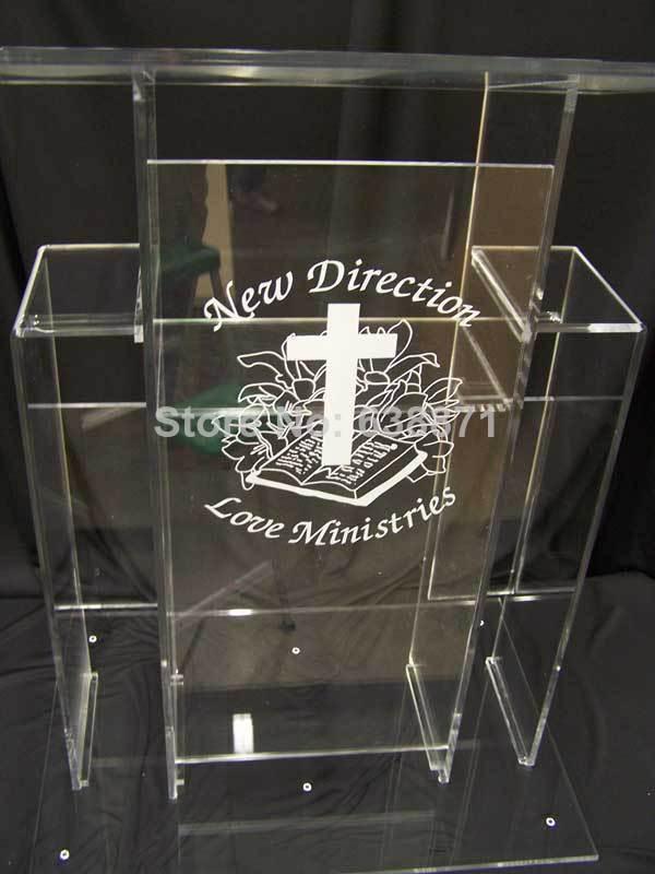 Mantel transparente de envío gratuito, podio, podio de acrílico, púlpito de iglesia de plástico