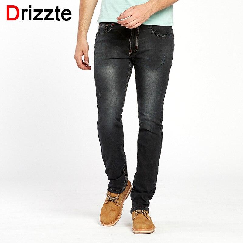 Drizzte Brand Jeans Men Jeans Summer Large Plus Size Designer Cotton Ripped Stretchy Pants Trousers Blue Denim Brand Men's Jeans