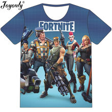 00902385 Joyonly 2018 Summer Children Cool Fortnite 3D T-shirt Boys Girls Game Win  Eat Chicken Design T shirt Kids Fashion Tshirts Tops