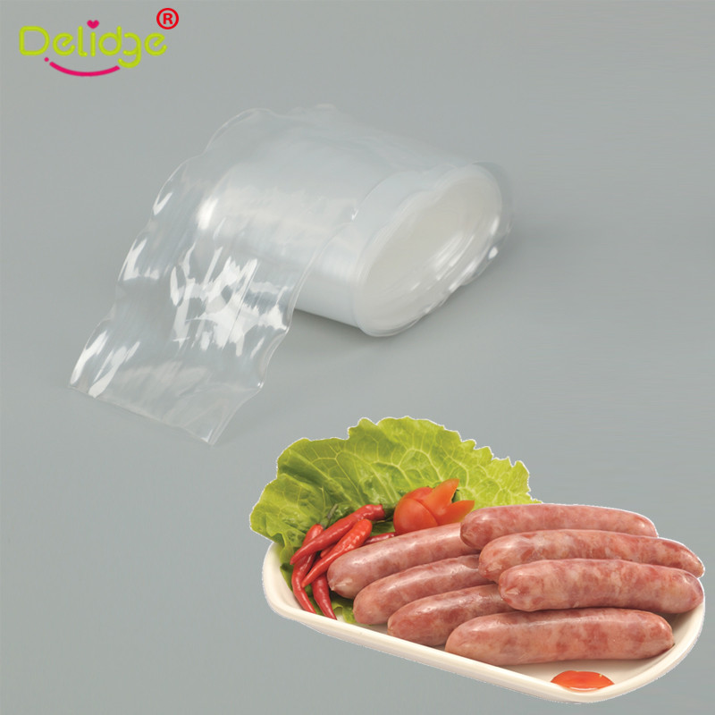 5M Food Grade Transparent Casing Film Plastic Casing 53-55mm Homemade Hot Dog Sausage Banana Sausage Kitchen Accessoyies image