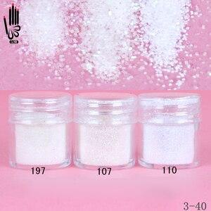 Image 1 - 1 банка для ногтей/коробка 10 мл для дизайна ногтей разноцветный белый блеск для ногтей тонкий порошок для украшения ногтей 300 цветов для гель лака 3 40