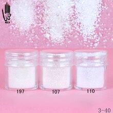 Nail 1 Jar/Box 10ml Nail Art wielokolorowy biały Nail Glitter drobny proszek na zdobienie paznokci dekoracje 300 kolory na żel polski 3 40