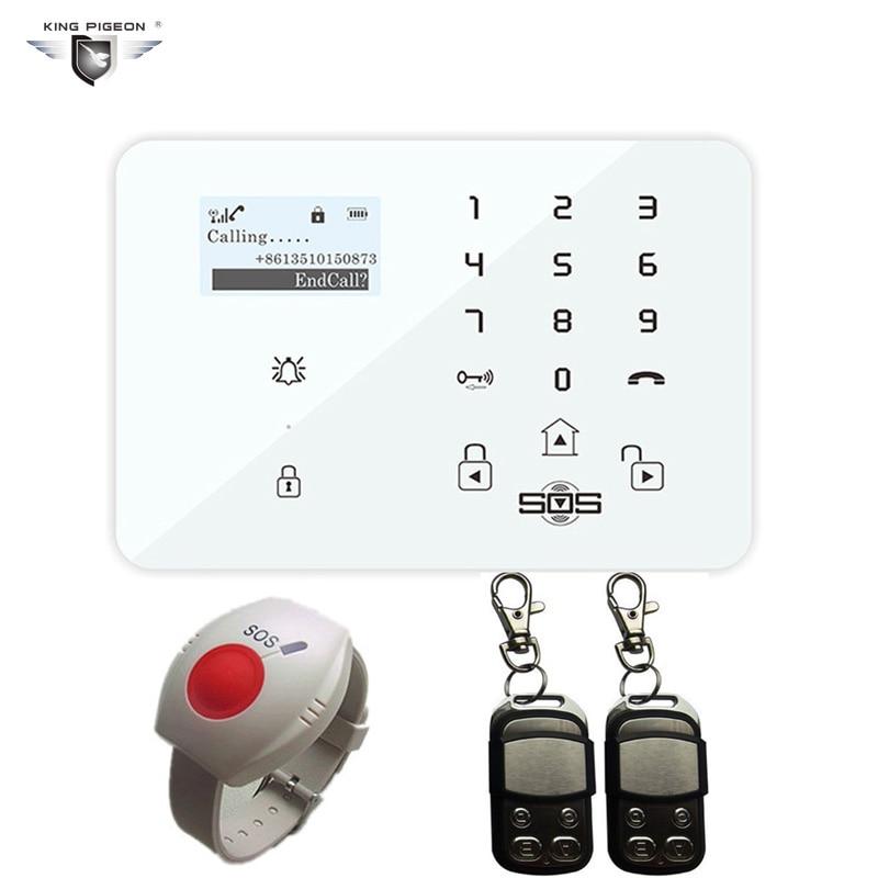 Alarme système GSM androïde sécurité maison Pensonal alarme sans fil 433 MHz télécommande SOS bouton panique K9Y