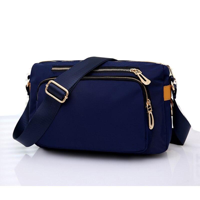 6fe8cc88b8df US $16.56 40% OFF|Casual Women messenger bags small Waterproof nylon  Shoulder Crossbody bag travel Handbags bolsa feminina Black Blue Purple-in  ...