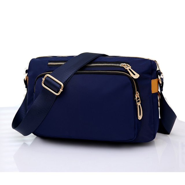 Casual Women Messenger Bags Small Waterproof Nylon Shoulder Crossbody Bag Travel Handbags Bolsa Feminina Black Blue