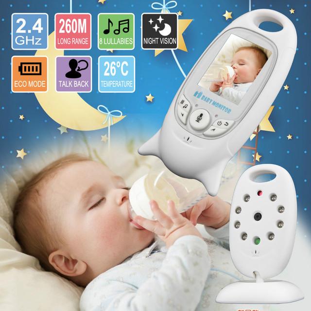 2 pulgadas de color de vídeo inalámbrica de monitor de bebé con cámara de baba de seguridad electrónica 2 talk nigh visión ir led de control de temperatura