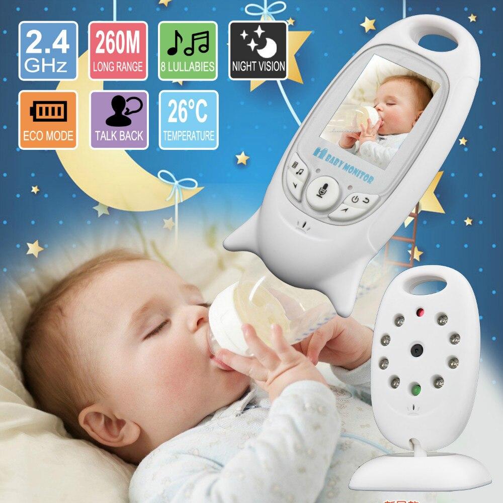 Saco de Dormir do bebê Monitor de Vídeo De Cor Sem Fio monitor Do Bebê baba eletrônica 2 Discussão Nigh Visão de Segurança LED de Monitoramento de Temperatura