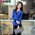 Poliéster limitada Em Tempo Integral-limitado 2016 Primavera E Outono Coreano Moda Ol Beleza Roupas Professor Ocupação Terninho