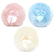 1Pcs Professional Butterfly Baby Cosmetic Villus Powder Puff Sponge For Talcum Powder Makeup Cosmetic Plush Sponges Puff(China)
