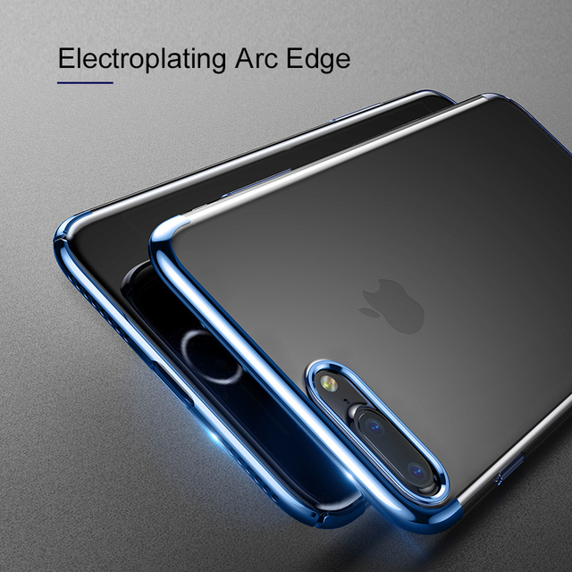 Baseus iPhone 7 8 Plus Anti-scratch Electroplating Protective PC Hard Back Case Cover