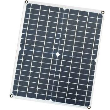 20W DC 12V 5V 3mm PET Portable Monocrystalline Solar Panels Charger USB for Backpack/Mobile/Computer/Car/Charging Board
