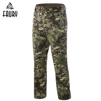 Men's Military Uniforms Pants Green MC Camouflage all terrain CP Winter Soft Shell TAD Style Warm Tactical Trousers