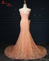 Jark Tozr Vestido De Festa Sweetheart Neck Tank Shoulder Lace Appliques Slim Formal Evening Dresses Long