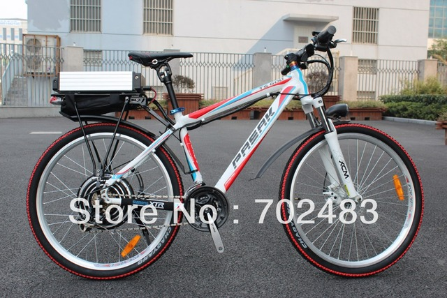 2013 New Off Road 48V 1000W White Dragon Electric Bike with 48V 20AH Li-ion Battery with F/R Disc Brake Electric Bicycle Ebike