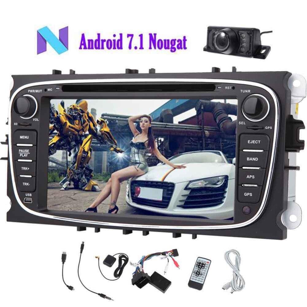 Eincar Double 2 Din voiture stéréo récepteur Android 7.1 Autoradio 7 ''voiture Radio médias voiture lecteur vidéo Bluetooth pour Ford + Canbus