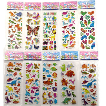 10pcs Different 3D Cute Stickers Funny Toy For Kids On Scrapbooking Phone Laptop Gifts Dinosaur Butterfly Office School Supplies Stationery Stickers