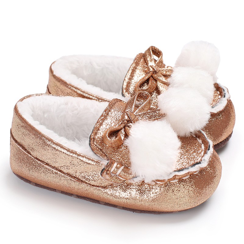 Sweet Baby Girls Loafer Soft Sole First Walker Crib Babe Prewalker Newborn Infant Toddler Keeping Warm Shoes