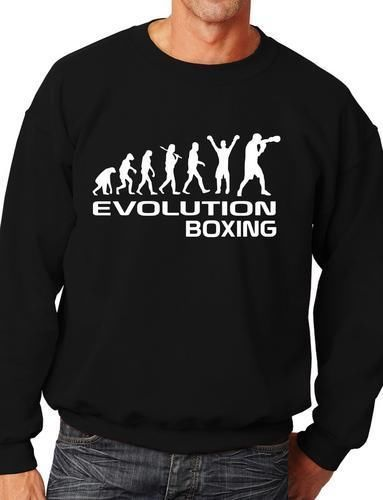 Evolution Of Boxer Sweatshirt Jumper Unisex Birthday Gift More Size and Color-E185