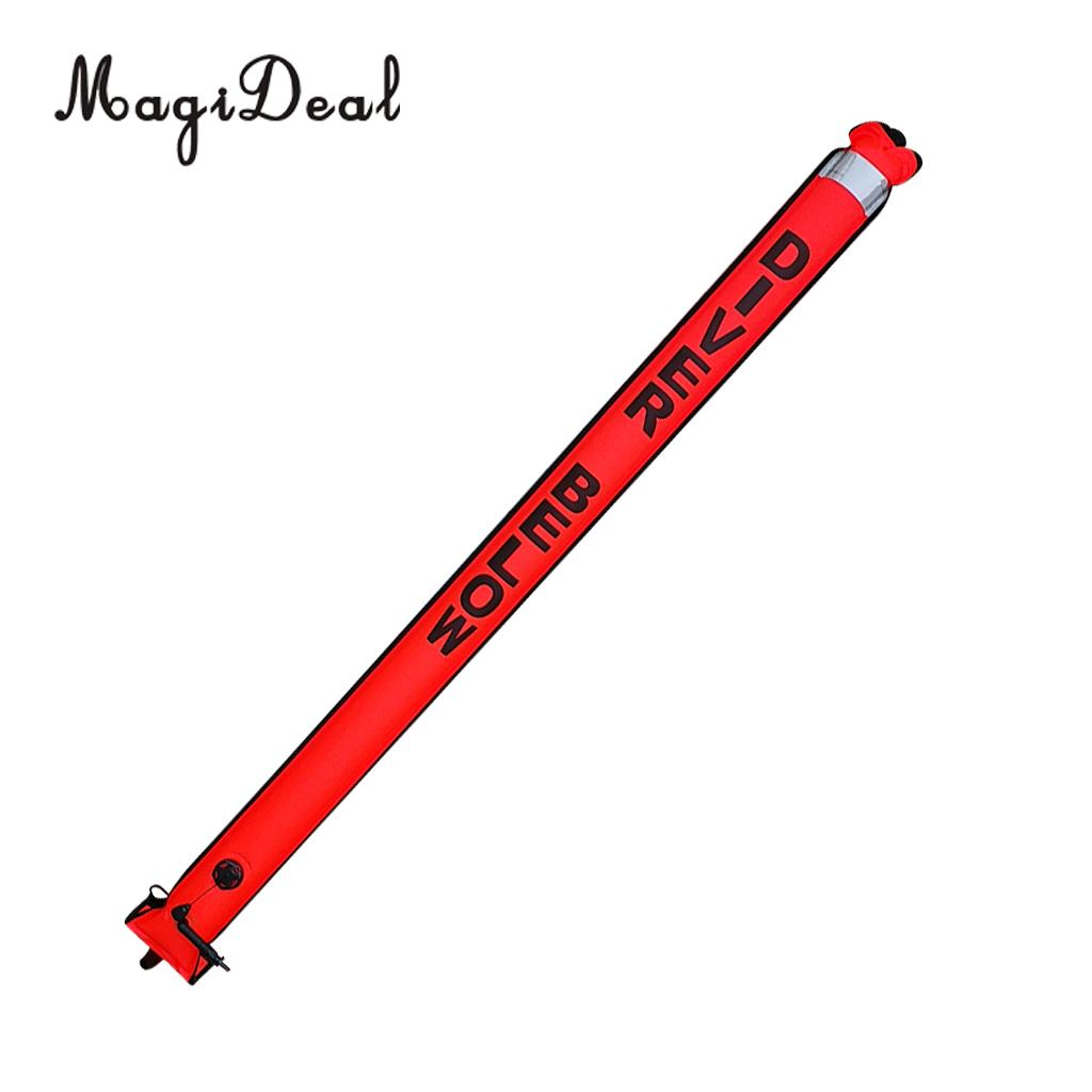 MagiDeal Heavy Duty Scuba Diving Diver Safety Sausage Surface Marker Buoy SMB Signal Tube 180x15 5cm