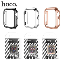 цена на HOCO Ultra-thin Hard PC Case 40mm 44mm For Apple Watch 5 4 Case Colorful Plating Protector Plastic Frame For Iwatch Series 4