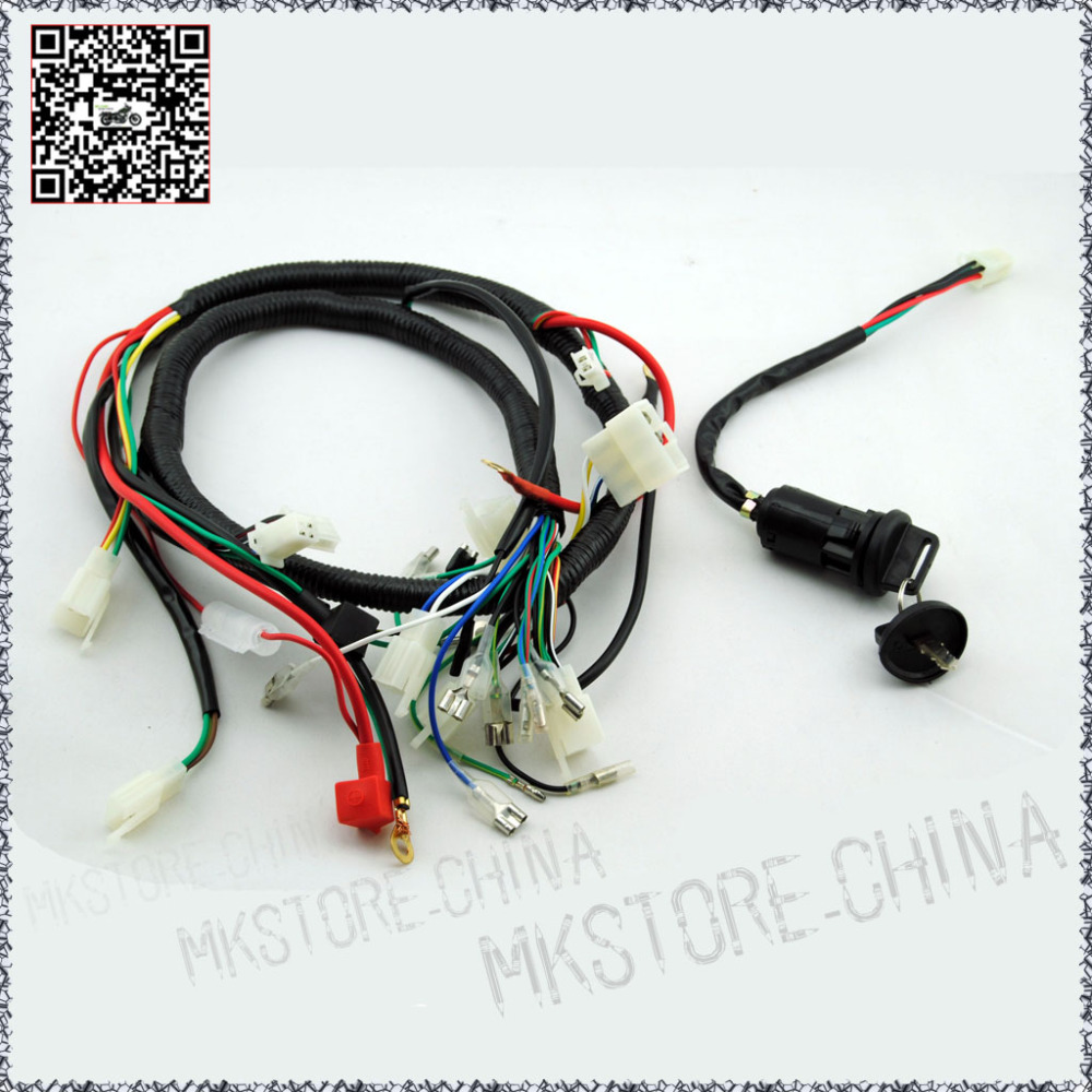 250cc Key Barrel Quad Wiring Harness 200 Chinese Electric Wire Start Loncin Zongshen Ducar Lifan Free Shipping In Atv Parts Accessories From Automobiles
