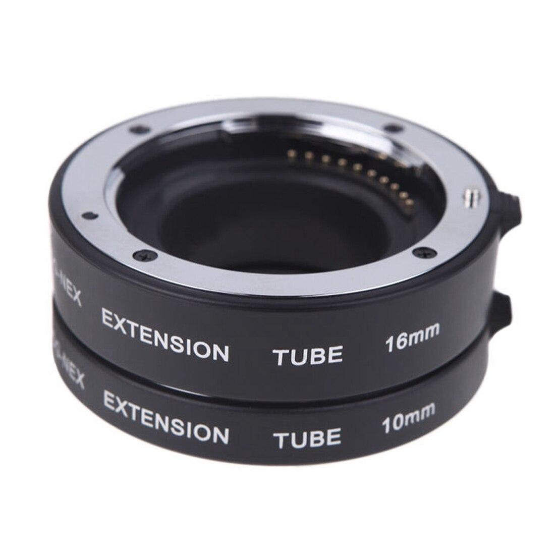 Wholesale5pcs*Macro Auto Focus Extension DG Tube Set Ring Metal Mount for Sony E-mout NEX macro extension tube for sony e mount ac ms silver grey