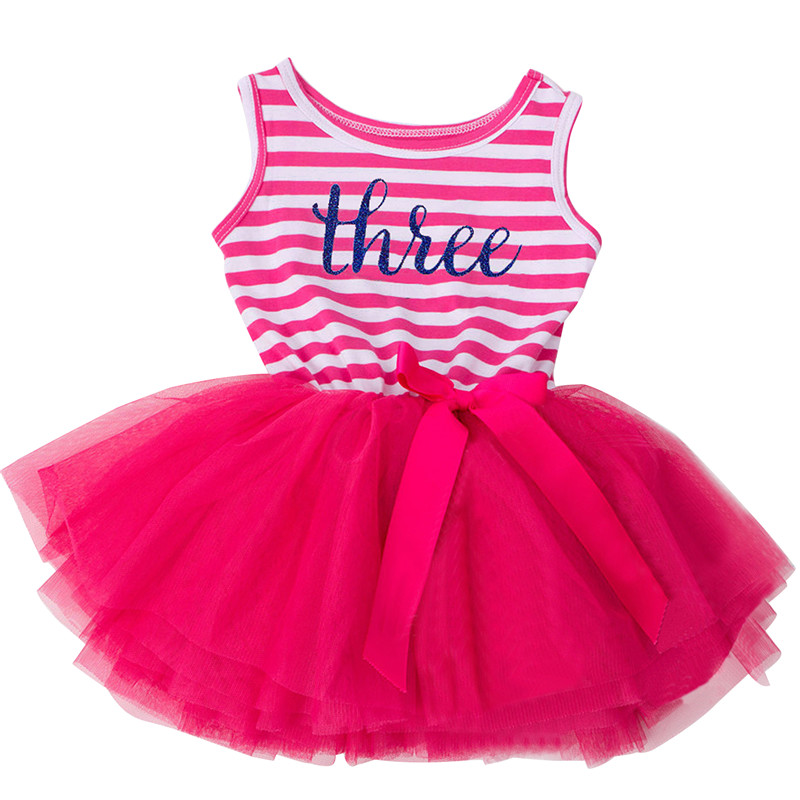 Infant Boutique Dress Girl Party Wear Baby Outfits Tutu Newborn Children's Clothing Girl 1 2 3 Year Toddler Girl Birthday Dress