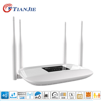 TIANJIE unlocked 3G 4G home 4 antennas sim card router modem 4g wifi hotspot 4G lte CPE wifi router 4g router with sim card slot