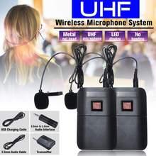 Профессиональная двойная гарнитура UHF Беспроводная микрофонная система с головным креплением микрофонный приемник передатчик для микрофона