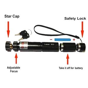 Image 5 - Messa A Fuoco regolabile Laser Pointer Pen Impermeabile 650NM Luce Brucia Fascio di Luce + 18650 batteria Ricaricabile Li Ion Battery + Charger