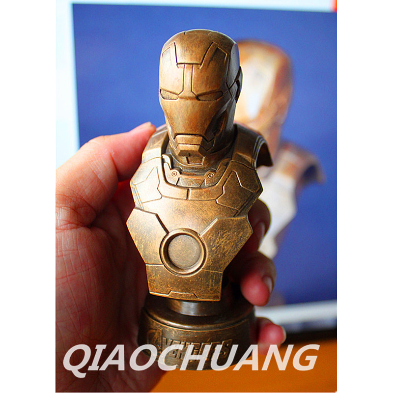 Avengers: Age of Ultron Statue 1:6 Iron Man MK43 Bust MK17 Imitation Copper Head Portrait Action Figure Collectible Model Toy