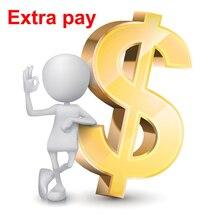 El pago adicional para la orden