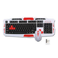 2.4GHz Wireless Keyboard Gaming Keyboard Mouse Combo 19 Keys Anti-ghosting Adjustable 1600DPI Mouse USB Receiver Adapter
