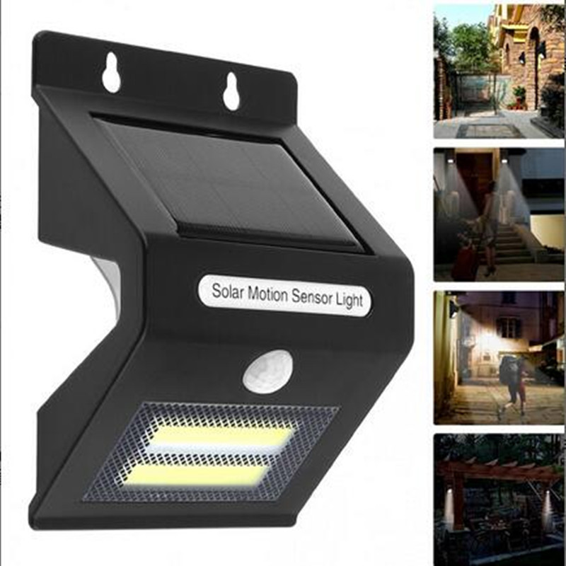Smuxi Outdoor Solar Light Waterproof COB Solar LED Light Rechargeable Motion Sensor Wall Light Lamp Security Lamp Decor ...