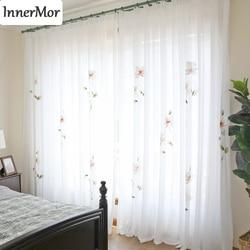 Innermor フランス絵画リビングルーム塗装高貴カーテン寝室用エレガントチュールキッチンカスタマイズ