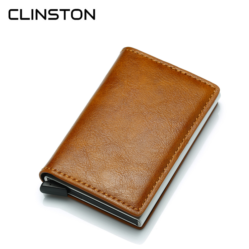RFID Blocking Business Credit Card Holder Aluminium Alloy Male ID Cards Case Thin Leather Wallet Slim Cardholder Purse for MenRFID Blocking Business Credit Card Holder Aluminium Alloy Male ID Cards Case Thin Leather Wallet Slim Cardholder Purse for Men