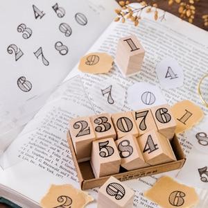 Image 4 - Timbres en caoutchouc, Vintage nombres créatifs, timbres de la semaine, timbres en bois, papeterie pour scrapbooking, standard, 1 ensemble, DIY bricolage