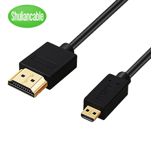 Mikro HDMI HDMI kablosu altın kaplama 2.0 3D 4k 1080P yüksek hızlı HDMI kablo adaptörü HDTV PS3 XBOX PC kamera 1m 1.5m 2m 3m