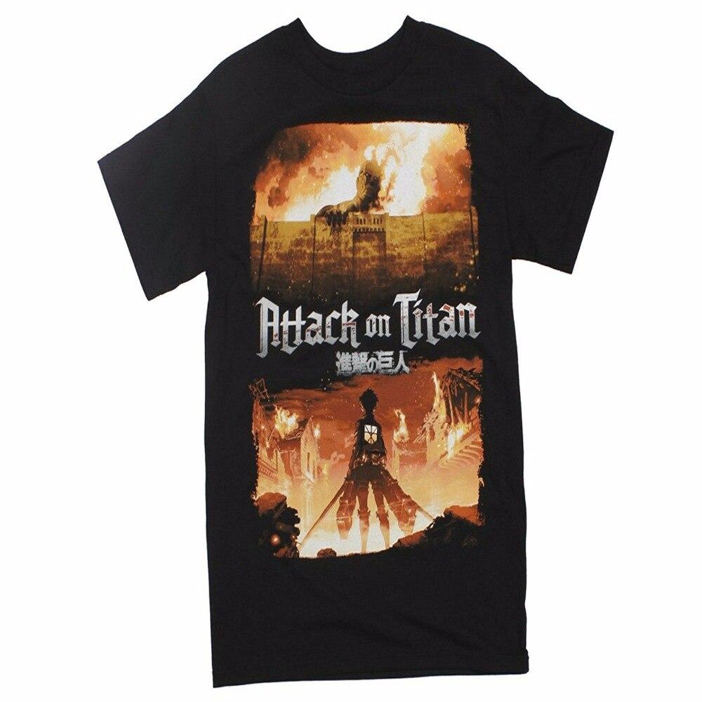 Hipster Tees Summer T Shirt Men's Short New Style Crew Neck Attack On Titan Key Art Adult T-Shirt Tee Shirt